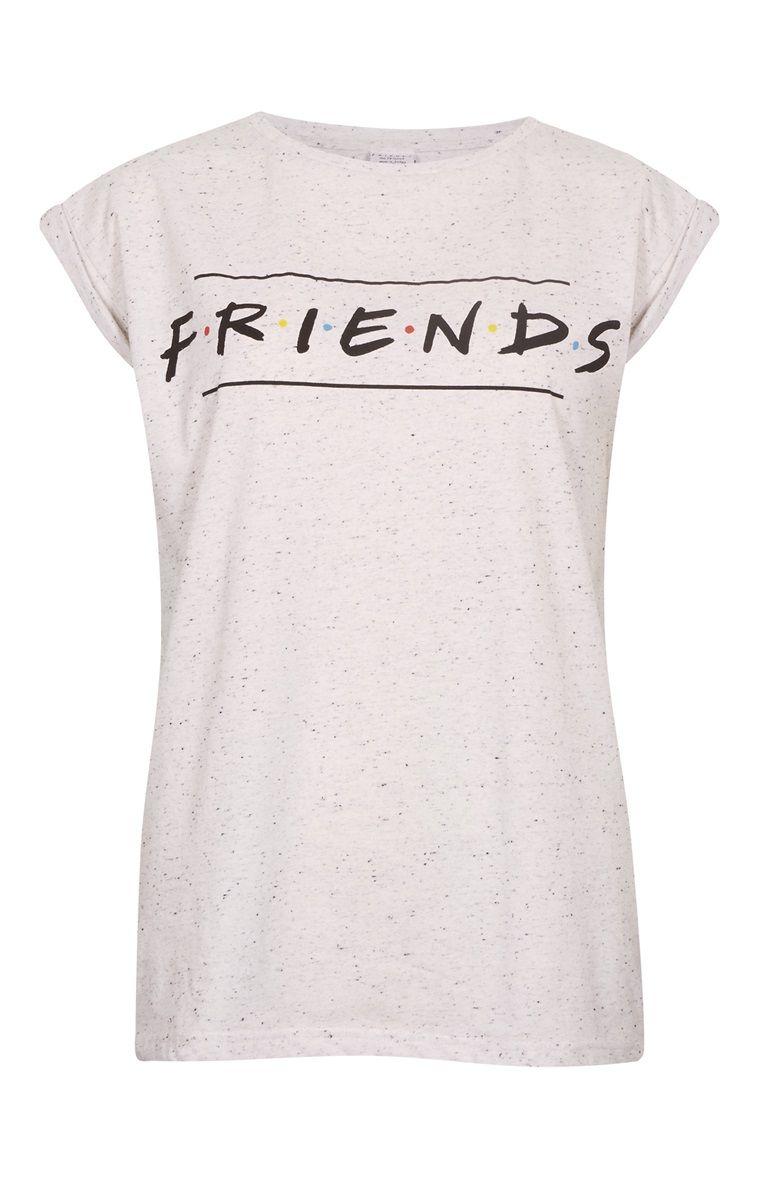 9b8ac22045343 PRIMARK || Grey nepp 'Friends' T-shirt | Camiseta 'Friends' gris ...
