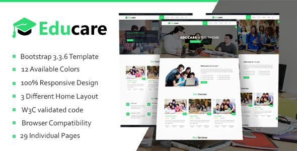 Educare - Education HTML Template | Template, Web design portfolios ...
