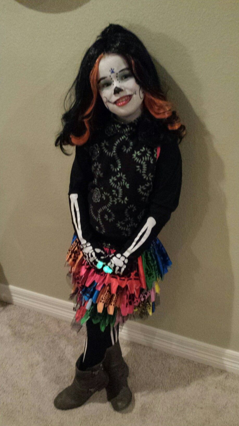 Skelita costume from last Halloween