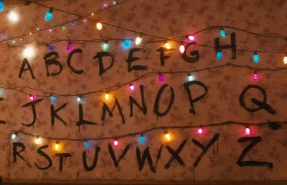 stranger things wall christmas lights by myvinylvariations - Stranger Things Christmas Decorations