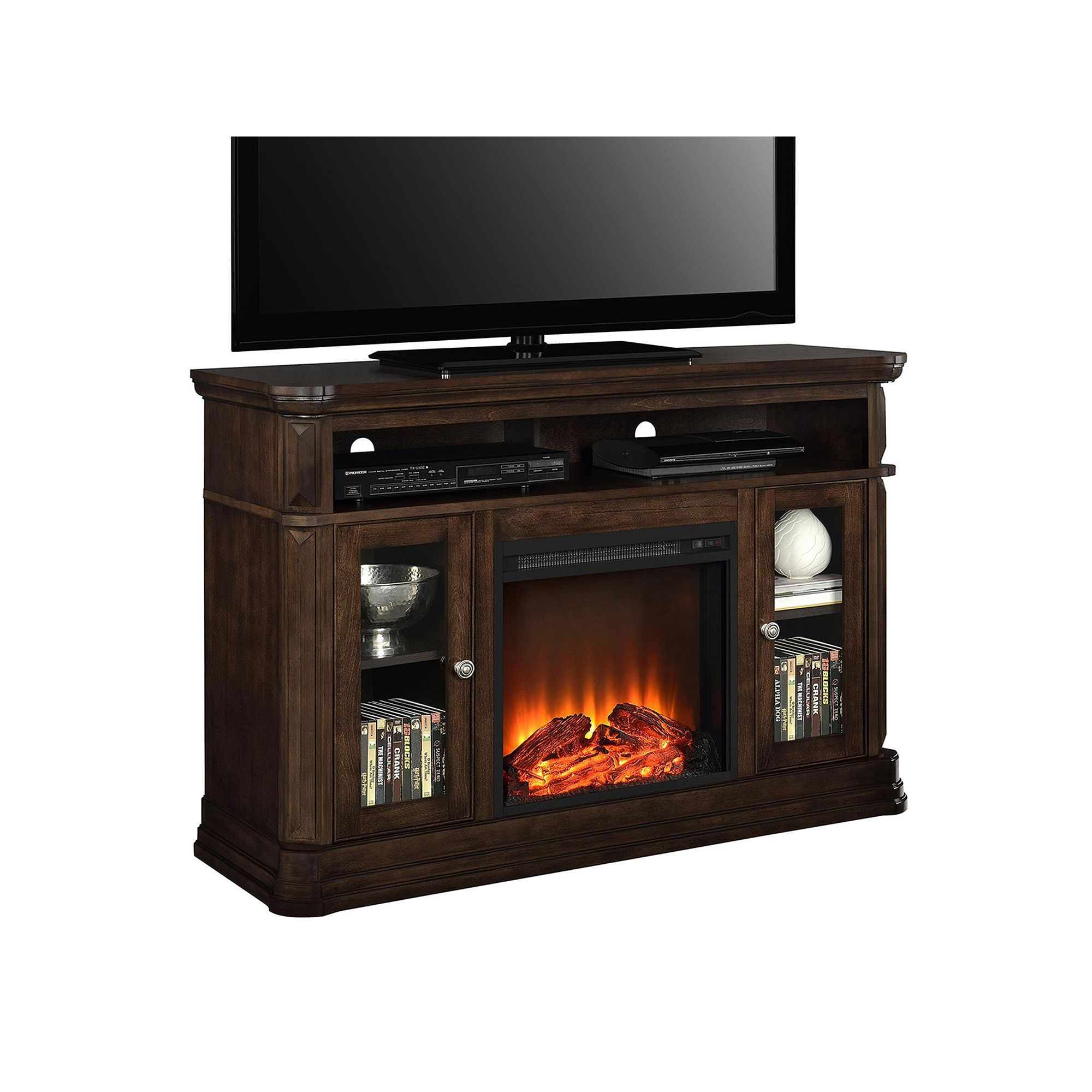 Ameriwood Brooklyn Electric Fireplace Tv Stand Products Electric