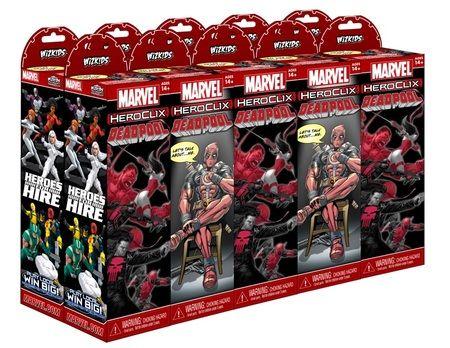 Marvel Heroclix Deadpool Boosters.
