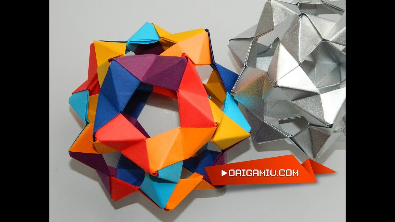 Photo of How to make a Сolor Star Holes Kusudama Origami (PHiZZ Unit Tom Hull)