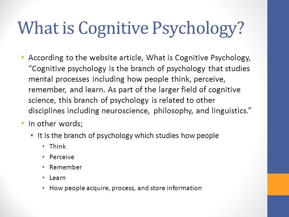 Jean Piaget Cognitive Psychology Ppt Cognitive Psychology