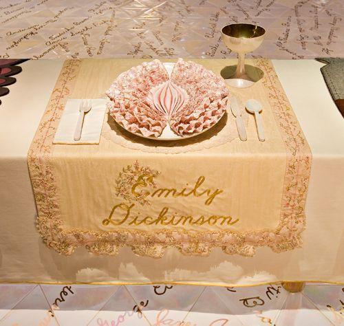The dinner plate of emily Dickinson & The dinner plate of emily Dickinson   The Dinner Party by Judy ...