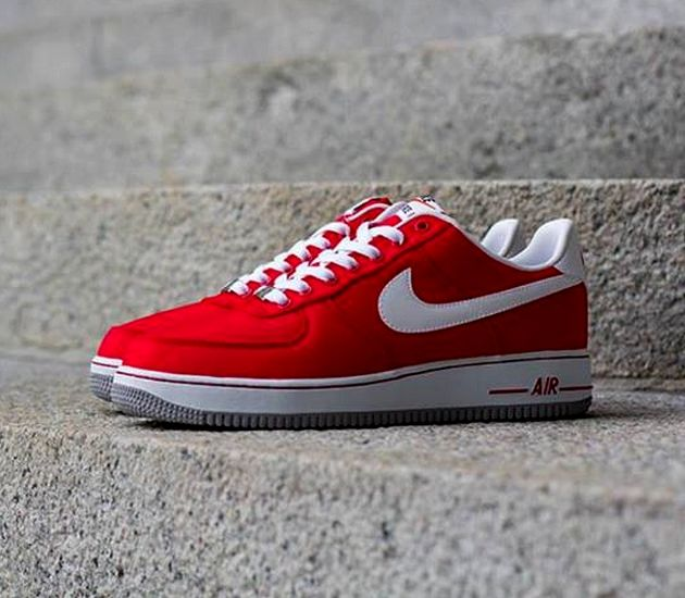 quality design 3c2b3 cf1aa ... Nike Air Force 1 Low – University Red White – Wolf Grey ...