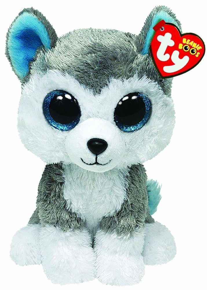 Details about Ty Slush the Grey Gray & White Husky Dog