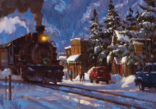 Arrival At The Christmas Special Painting By David