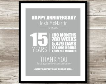 20 Year Work Anniversary Print Gift Digital Print Customizable Thank You Gift Years Of Service Employee Recognition Work Anniversary 25 Year Anniversary 20 Year Anniversary Gifts