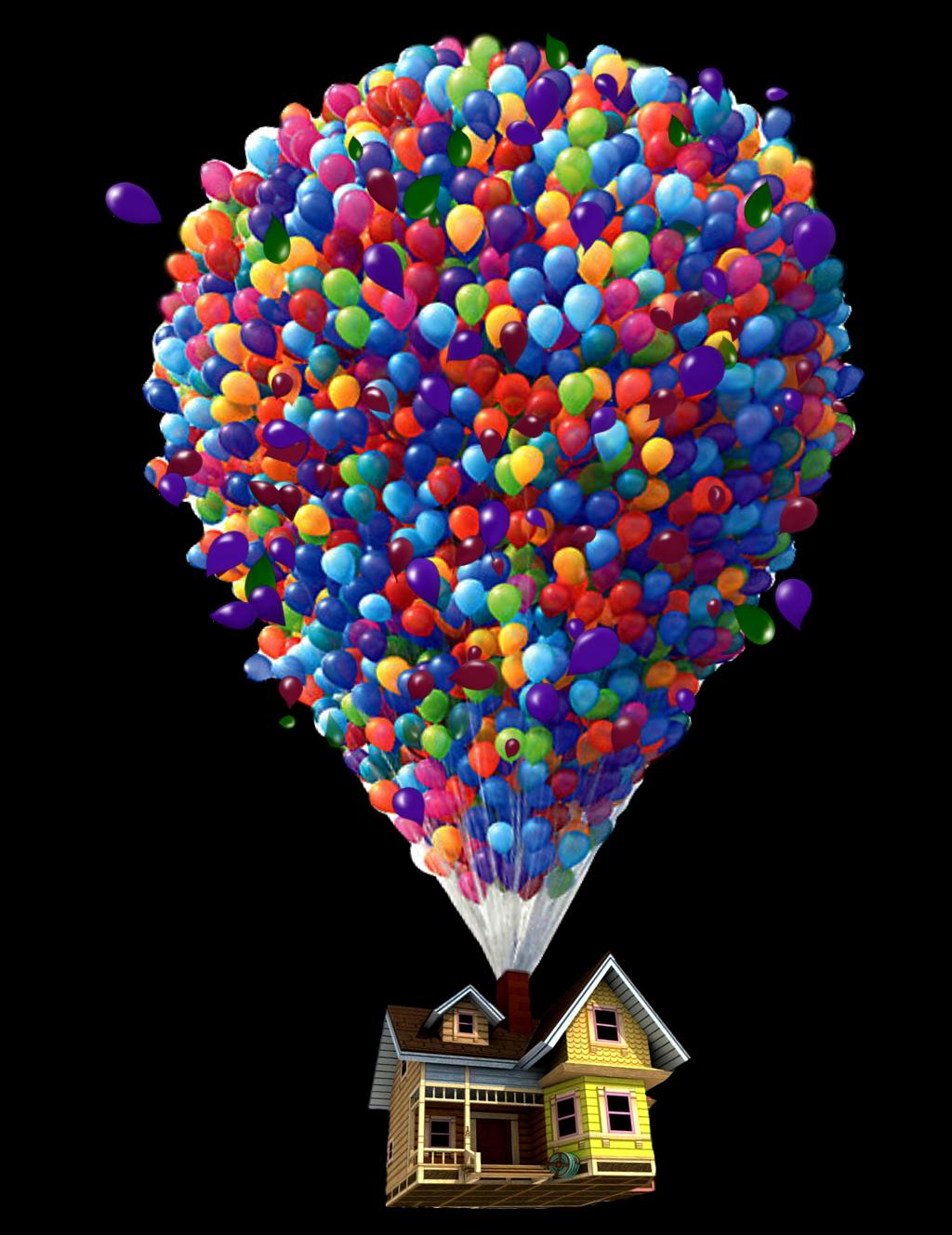 Ftestickers Balloon House Floating Levitation Danial89 Balloon House Disney Silhouette Art Up Pixar