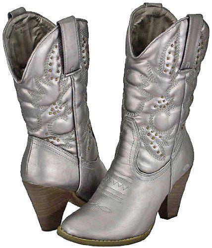 c80f62281b9 Amazon.com: Corkys Sage Brush Pewter Women Cowboy Boots: Shoes ...