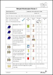 Wochenplan Zur Erleichterung Der Unterrichtsplanung