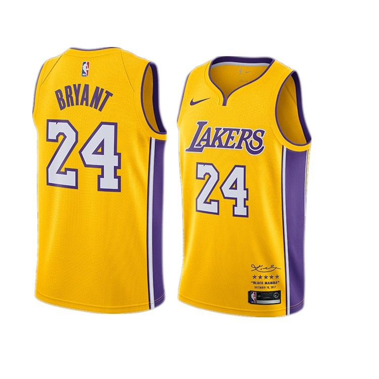 The Los Angeles Lakers 24 Bryant Yellow Retired Limited Edition Los Angeles Lakers 24 Kobe Bryant5 Size S M L Kobe Bryant Kobe Bryant 24 Lakers Kobe Bryant