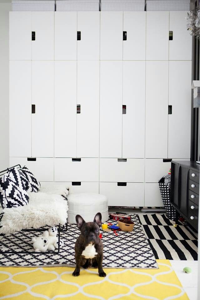 good looking minimalistic storage solution for cheap - wall of