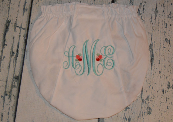 Personalized Rose Bloomers  Diaper Cover by theroyalprincess
