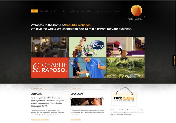 Http Www Giantpeachdesign Com Via Url2pin Web Design Agency Web Design Salisbury Wiltshire