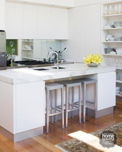 Save Space With Stools That Tuck Away Under An Island Bench When