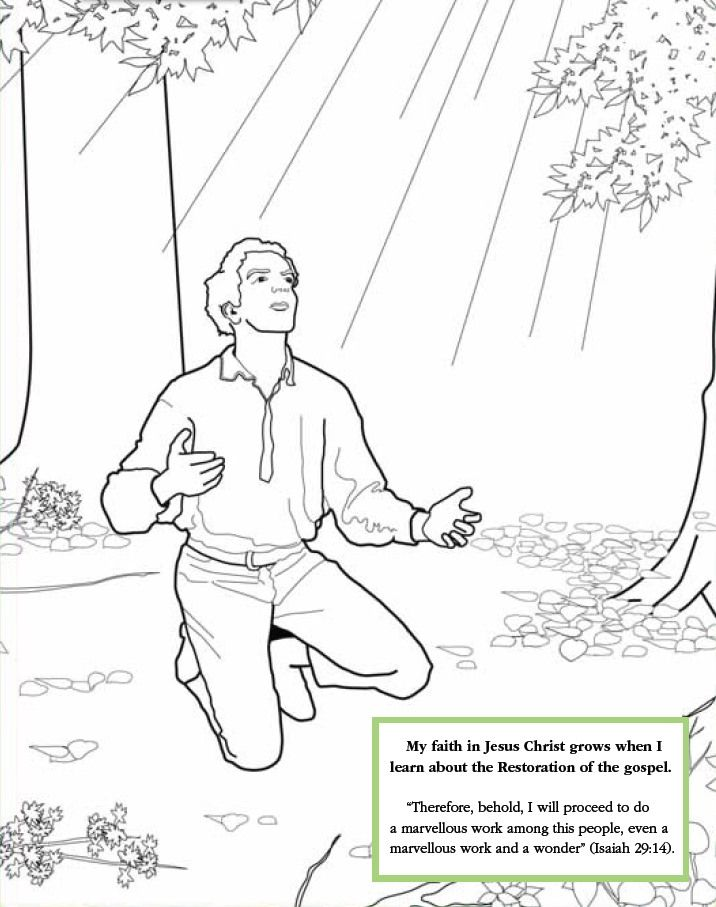 Lds Games Color Time Joseph Smith S First Prayer Lds Kids