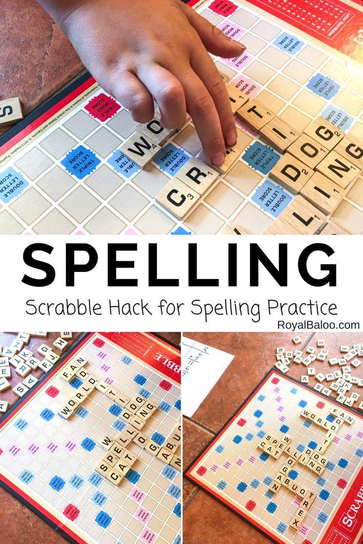 Scrabble Hack for Spelling Practice Scrabble spelling