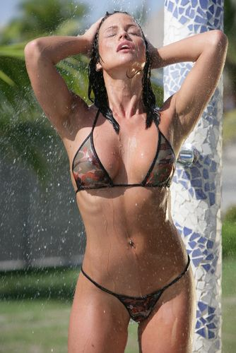 Outdoor bikini showers