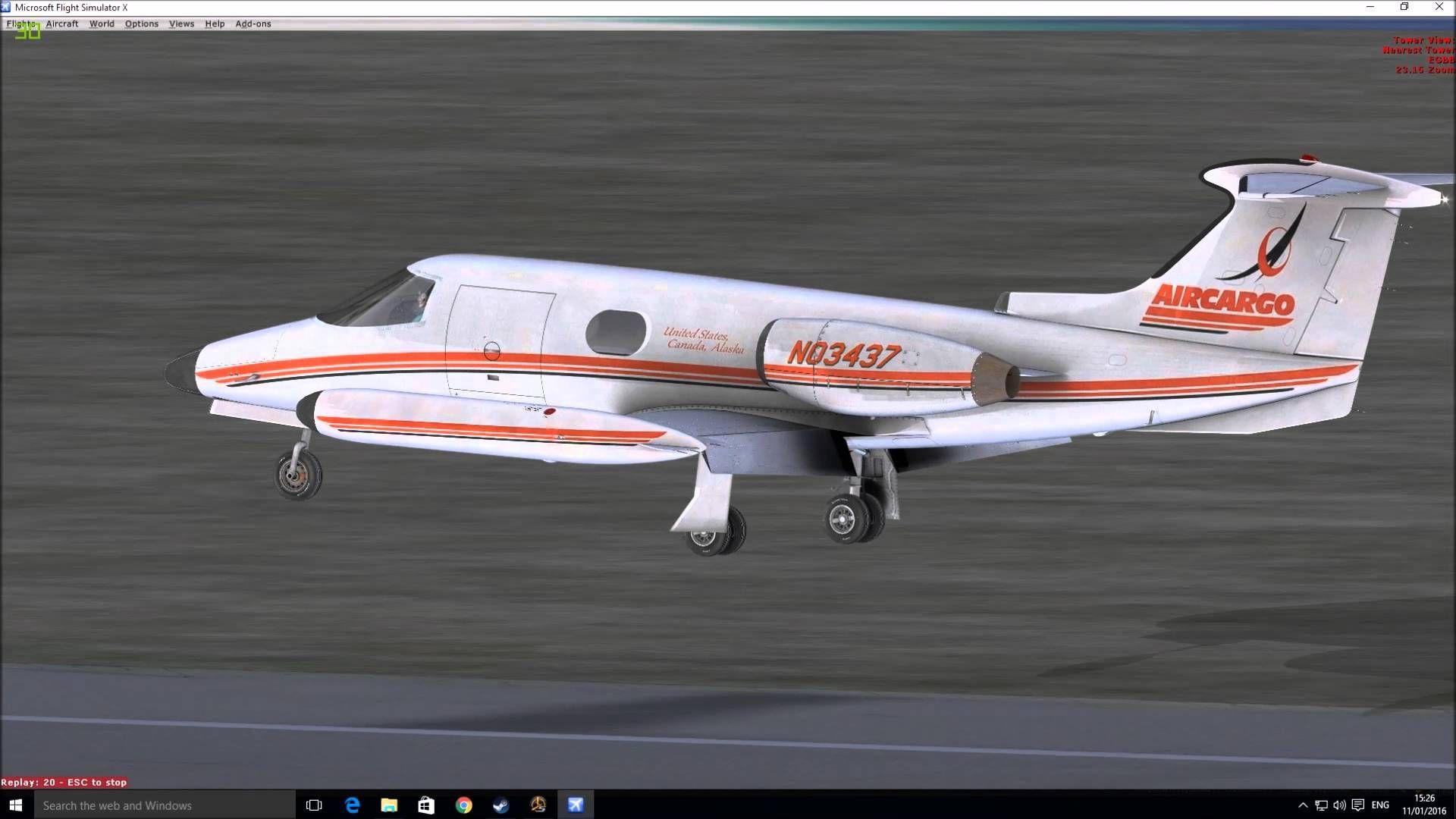 Multiple Manual Landings in FSX Steam at Birmingham International