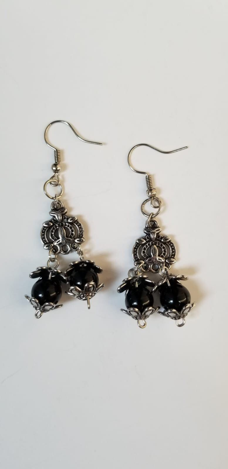Excited To Share The Latest Addition My Etsy Indian Style Earrings Traditional Silver And Black Party Womens