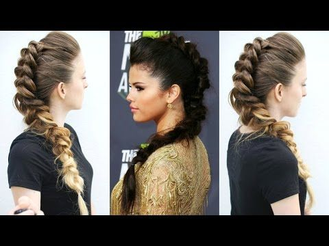 Youtube Hairstyles Selena Gomez Inspired Fawk Hawk Hairstyle  Celebrity Hairstyles