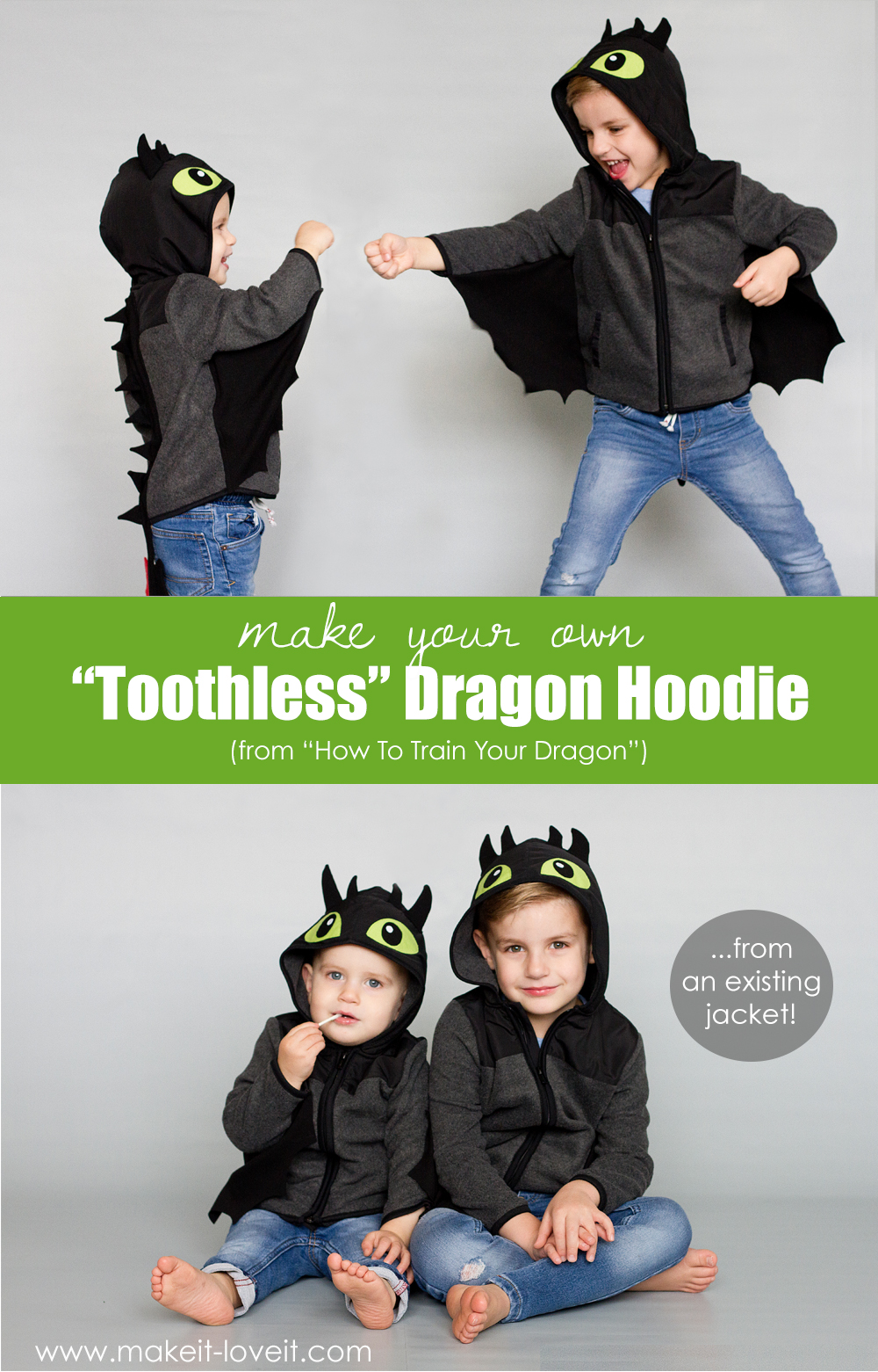 Make A Toothless Dragon Hoodie From An Existing Jacket Dragon Hoodie Toothless Costume Diy Dragon Costume