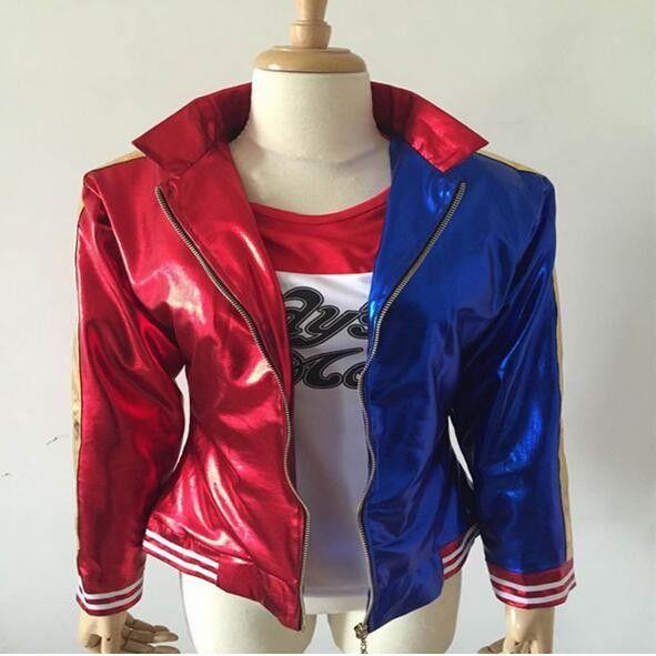 Harley Quinn Suicide Squad Jacket Costume Cosplay Movie Halloween Batman Coat