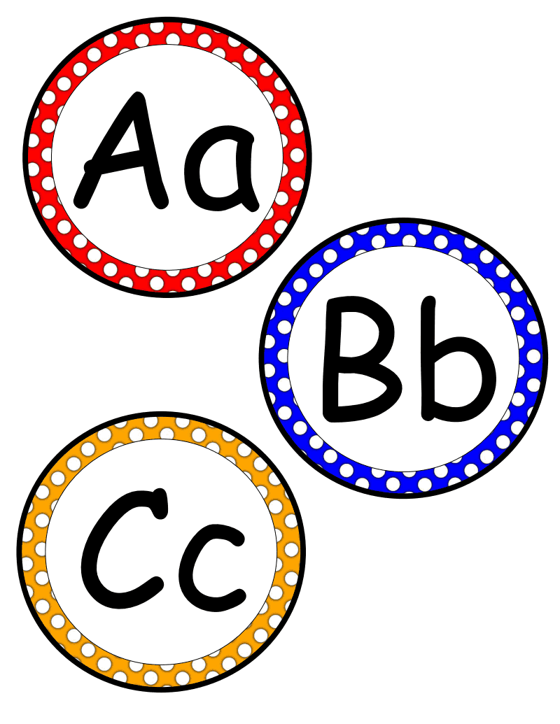 Polka Dot Word Wall Letters pdf - Google Drive | Classroom