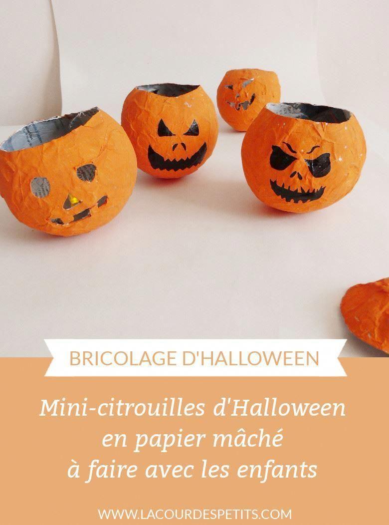 DIY d'Halloween : des mini citrouilles en papier mâché |La cour des petits