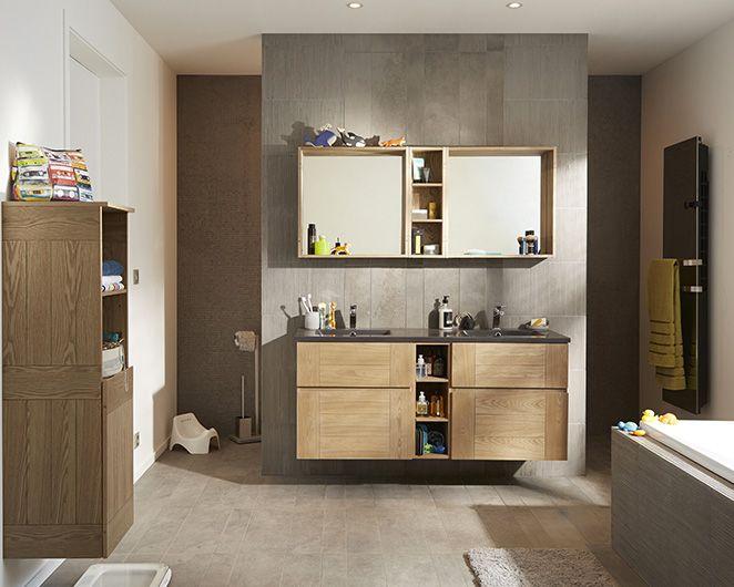 castorama meuble de salle de bains essential ii une salle de bains structuree qui a l esprit de famille