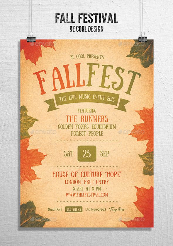 Fall Festival Flyer   Poster Tempalte #design Download   - fall flyer