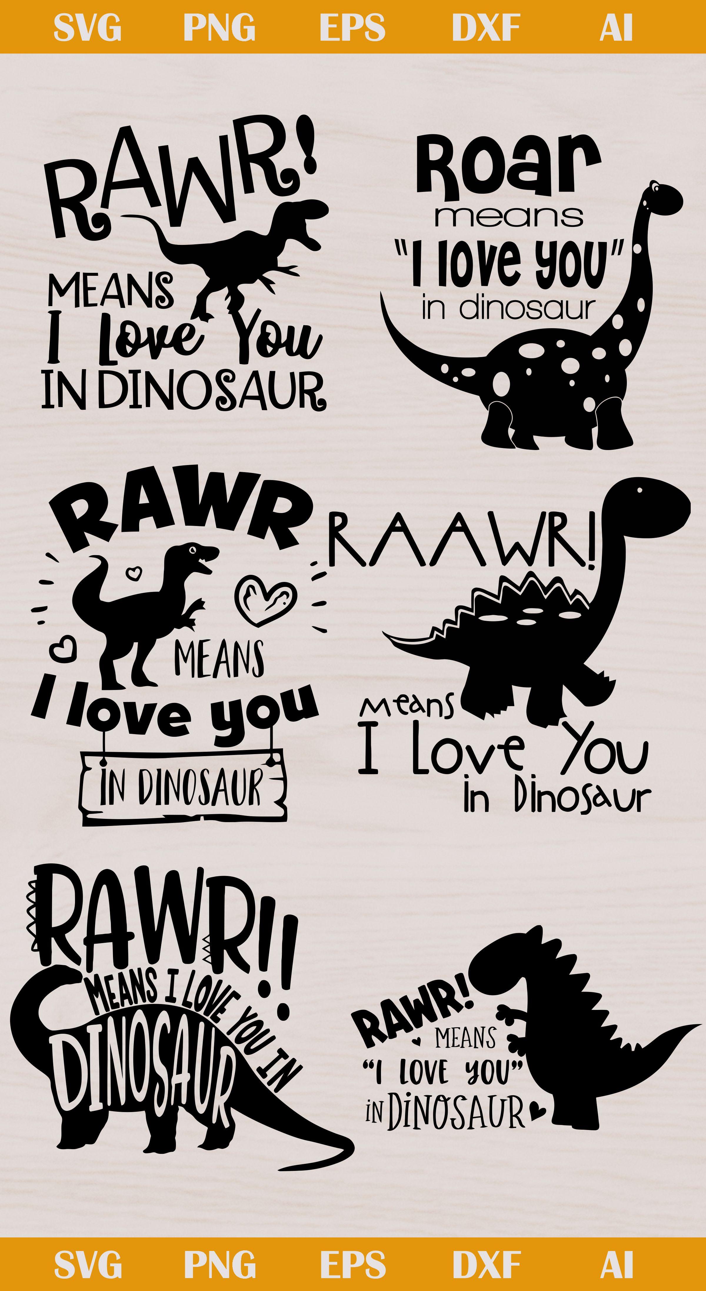 Rawr Dinosaur svg, Rawr Dinosaur silhouette, Rawr Dinosaur
