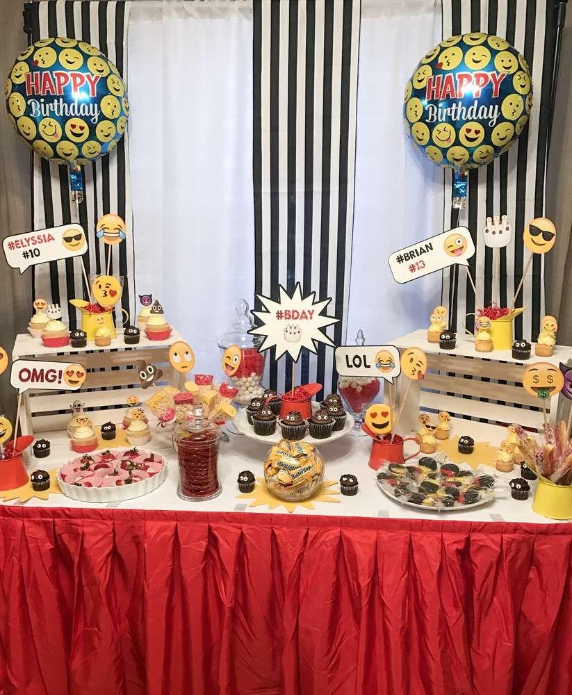 Emoji Birthday Party Ideas Photo 2 Of 13 Emoji Theme