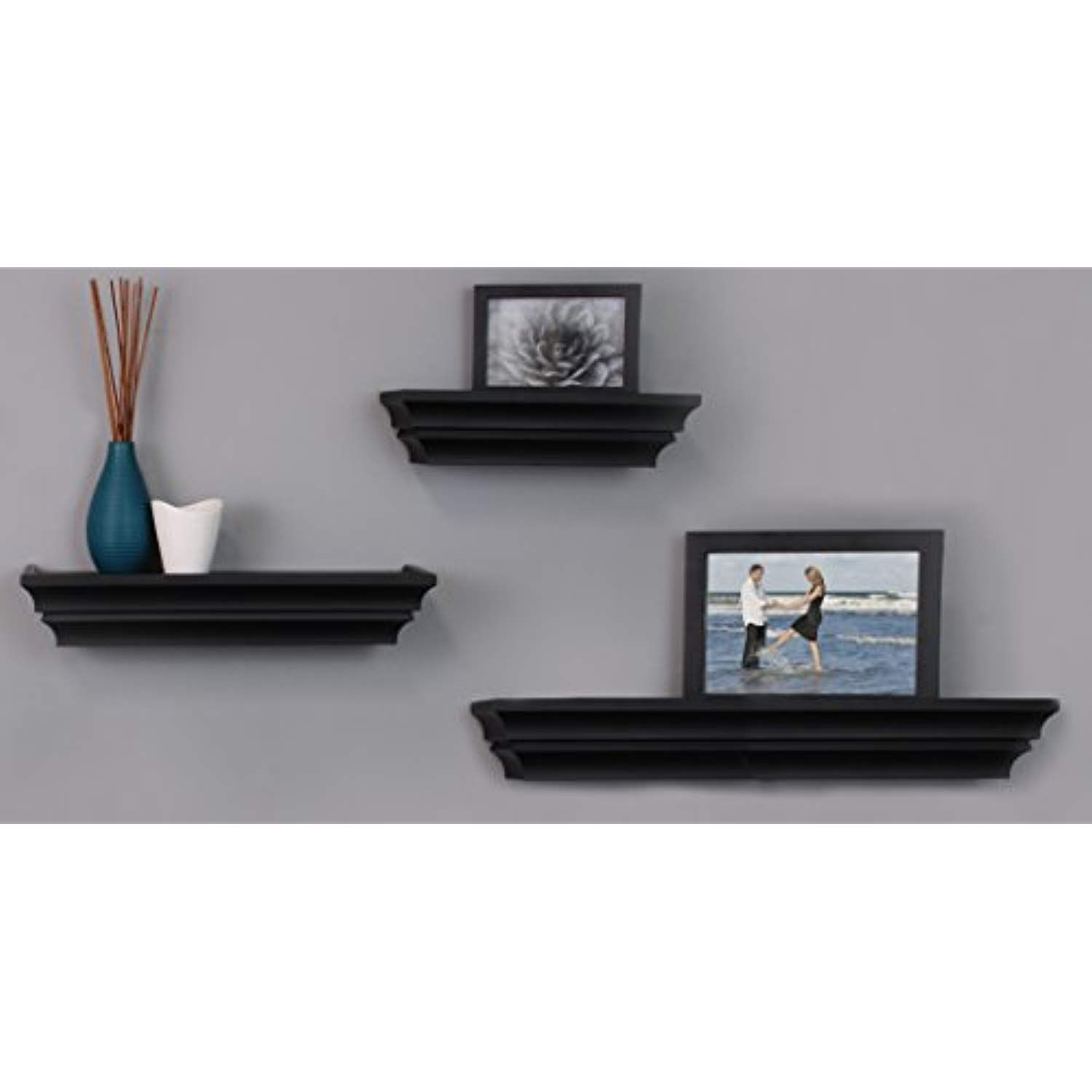 Nexxt Madison Contoured Wall Ledges 12 Inch 16 Inch 24 Inch Black Set Of 3 Continue To The Product At The I In 2020 Wall Shelves Madison Wall Floating Shelves