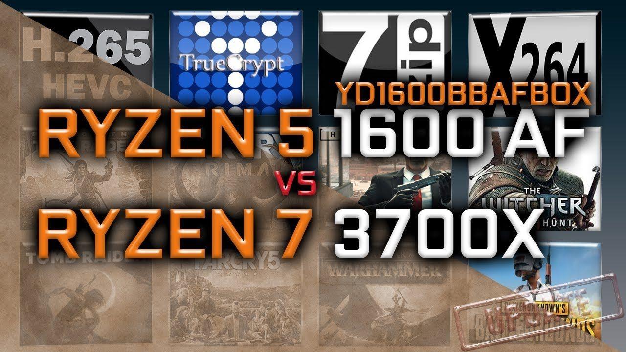 Ryzen 5 1600 AF vs Ryzen 7 3700X Benchmarks