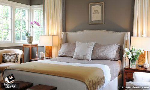 Paarse Slaapkamer Voorbeelden : Slaapkamer voorbeeld grijs woon inspiratie
