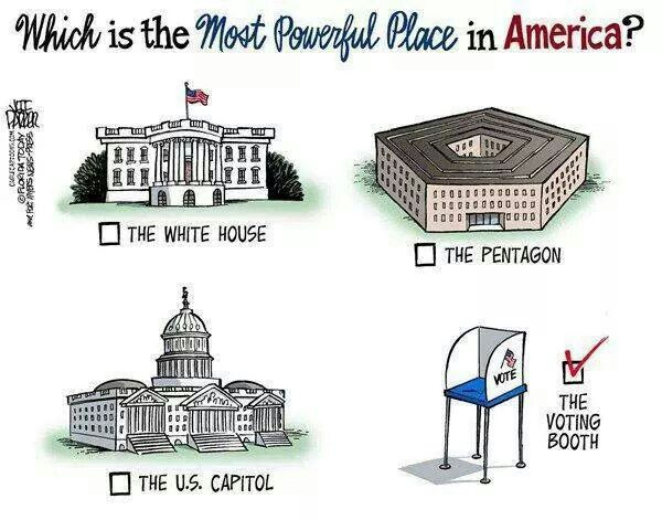 We the people hold the power to take back our government. Too often we squander our vote at the polls by just choosing a party. Research, get to know to the candidates and the issues; make your vote count!