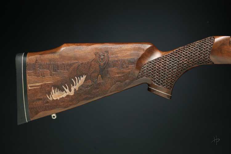 Bearmoosegun pix g carved gunstocks