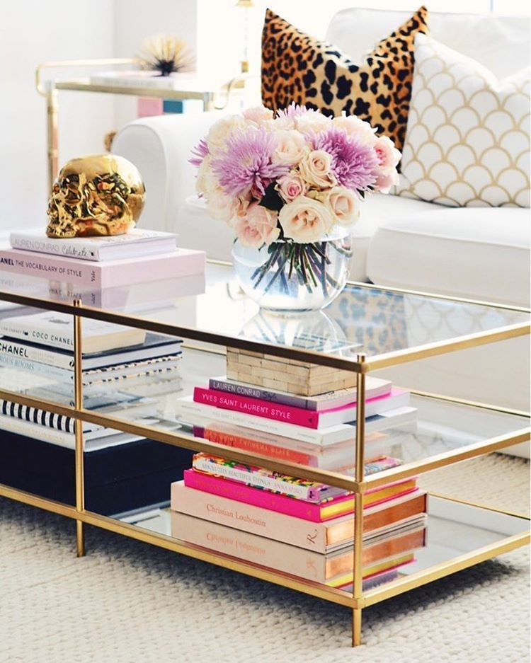 Living Room Table Decor Part - 44: West Elm Brass Coffee Table, Coffee Table Books, How To Style Your Coffee  Table