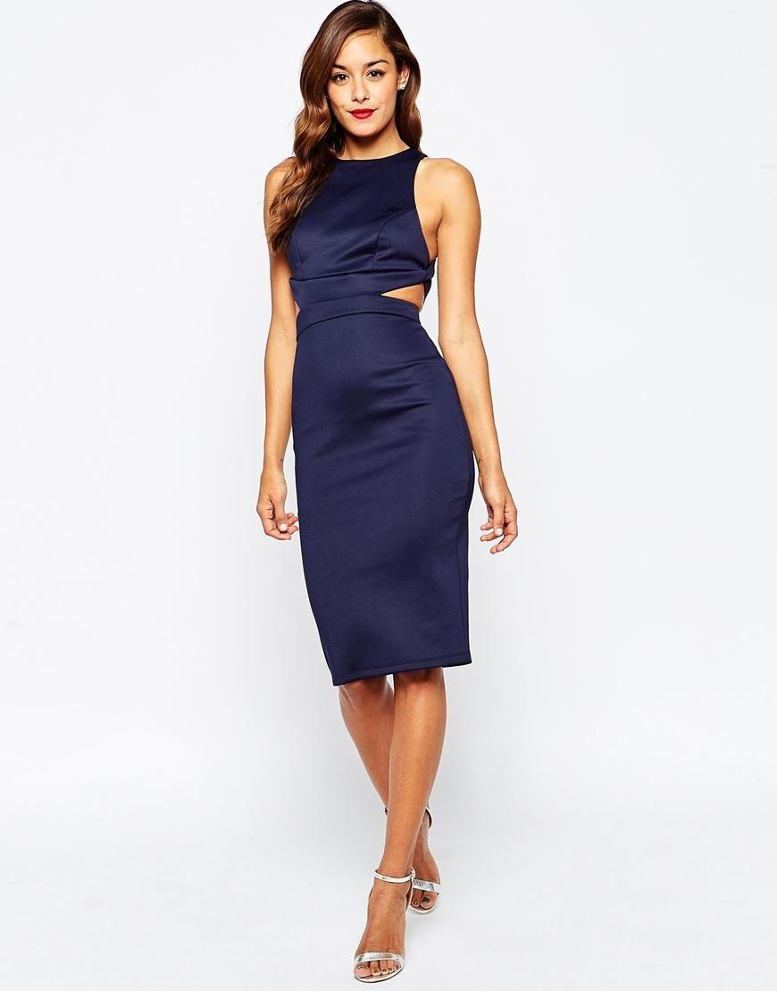 e95b4d47 ASOS | ASOS Cut Out Back Body-Conscious Midi Dress at ASOS | My Style