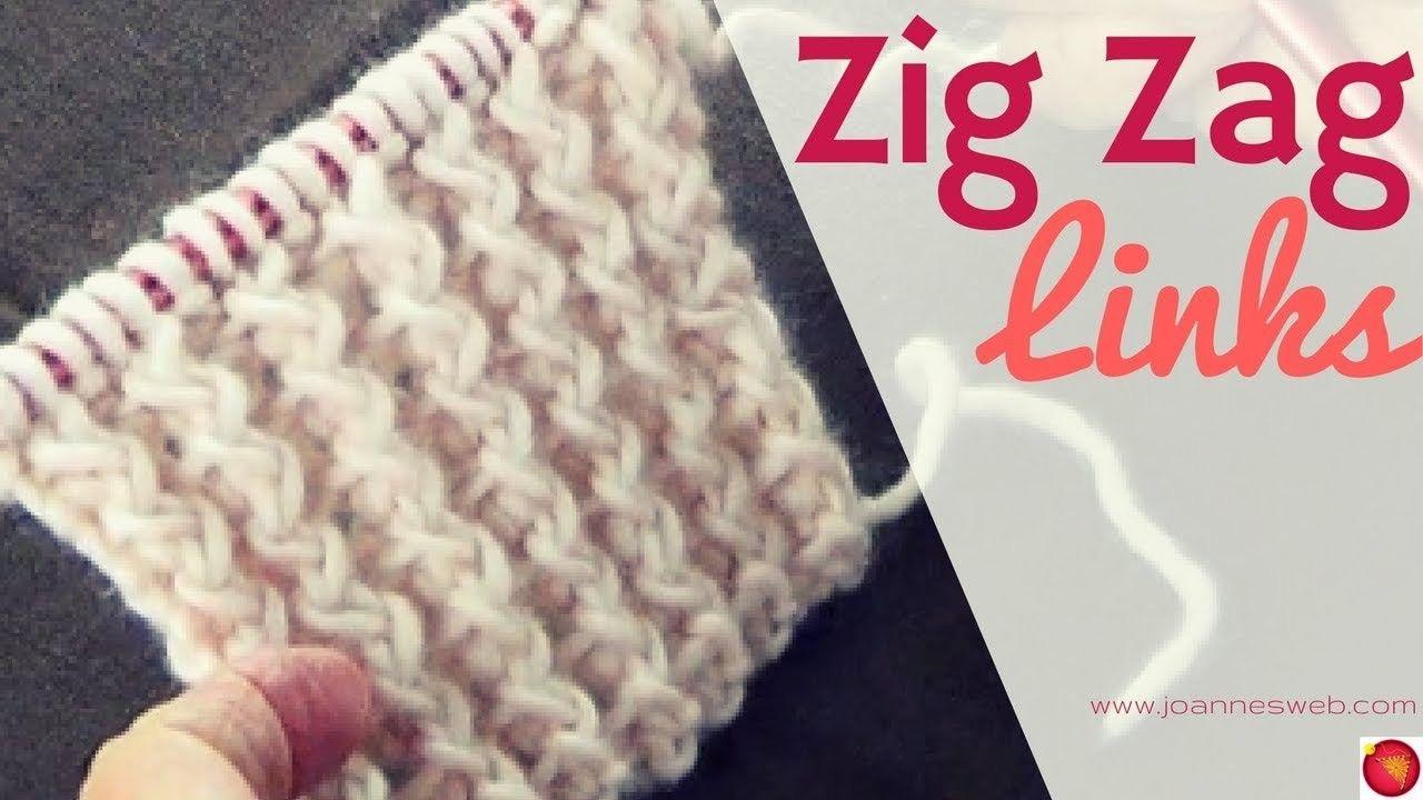 Zig Zag Links Knitting Pattern