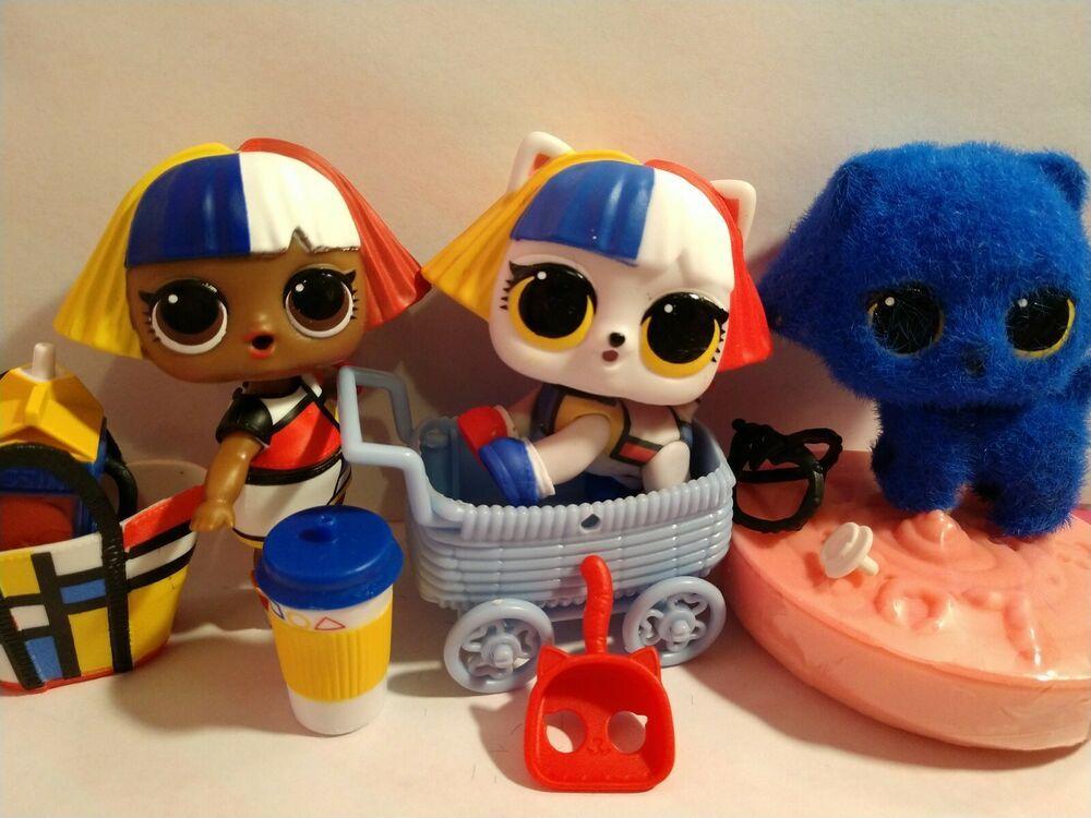 Lol Surprise Dolls Shapes Big Sis Color Changing Pet Set Of 2