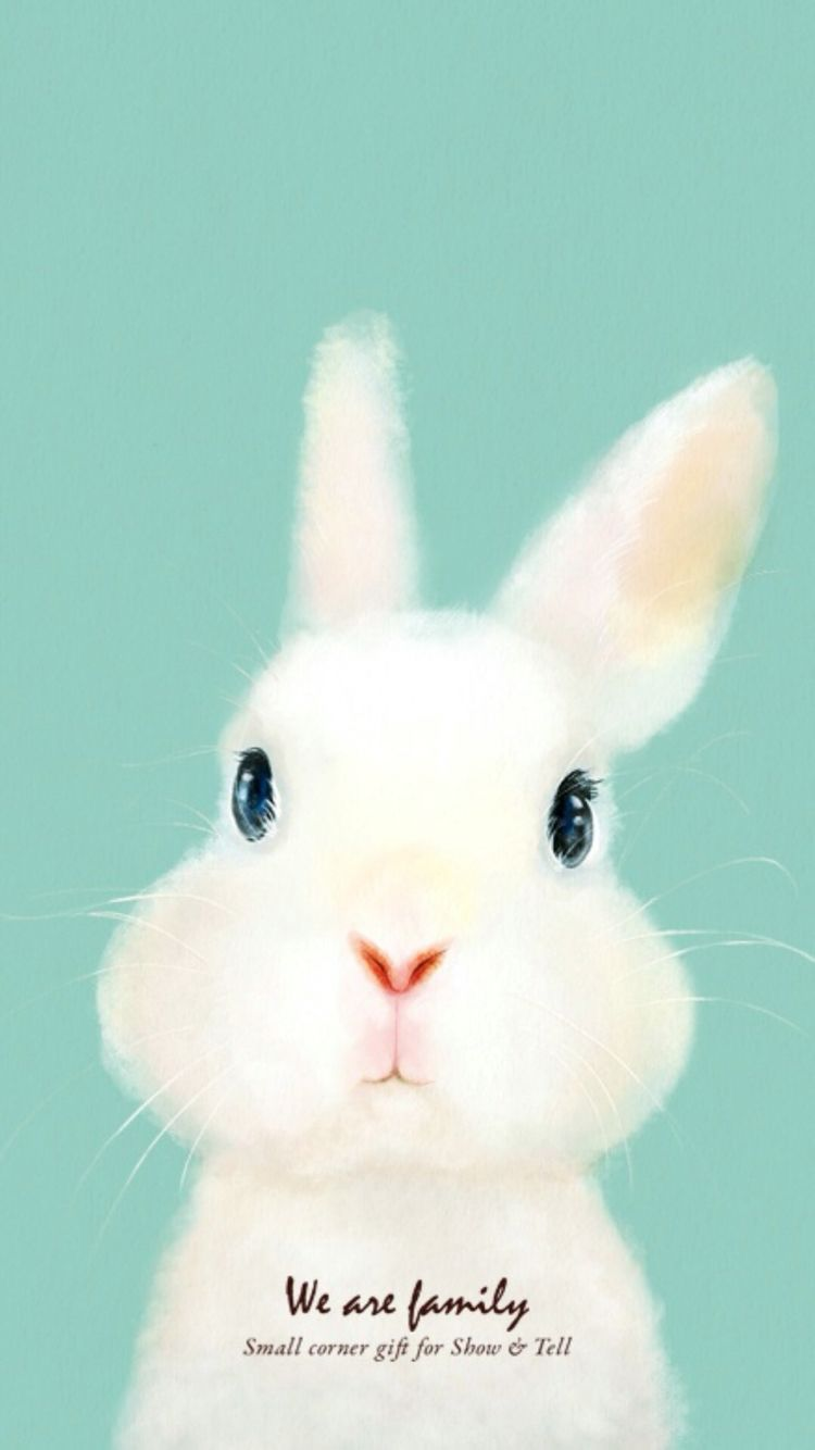 Pin by fan on art kids room paint bunny painting - Easter bunny wallpaper ...