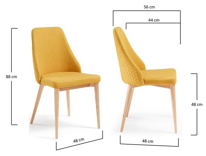Roxie Quilted Dining Chair - Mustard