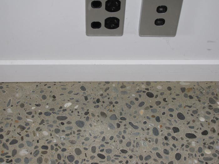 The Awesome Web River pebble polished concrete floor for bathroom guest toilet and laundry