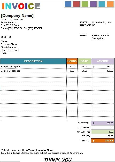 Painting Invoice Template | Stationary Templates | Pinterest