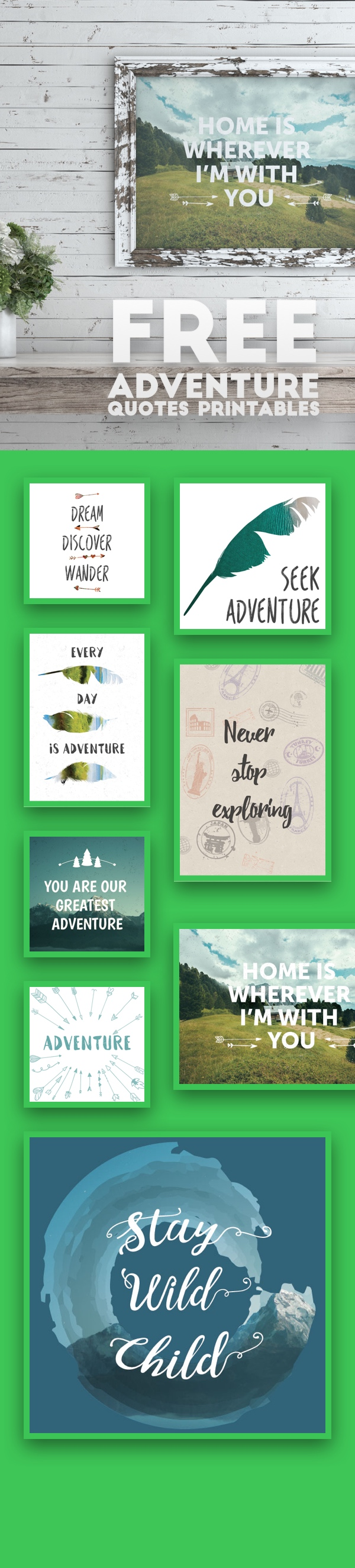 8 Free Printables Quotes To Fill Your Life With Adventure | Framed ...