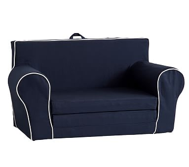 Terrific Navy With White Piping Anywhere Sofa Lounger Furniture Dailytribune Chair Design For Home Dailytribuneorg